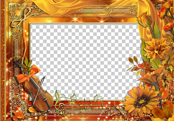 Frame Violin Photography, Violin Flowers Border PNG clipart.