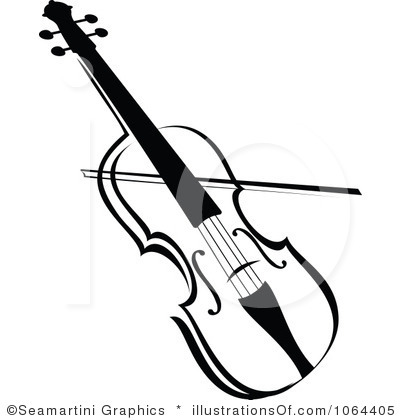 Violin Clipart Black And White & Violin Black And White Clip Art.