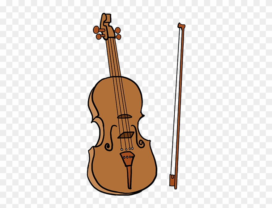 How To Draw Violin.