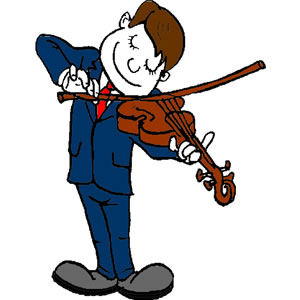 Violin Player Clipart.