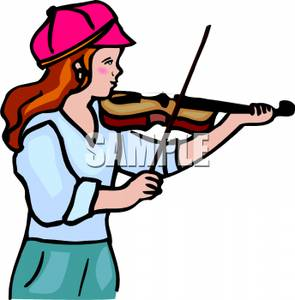 Violin Player Free Clipart.