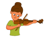 Playing violin clipart.