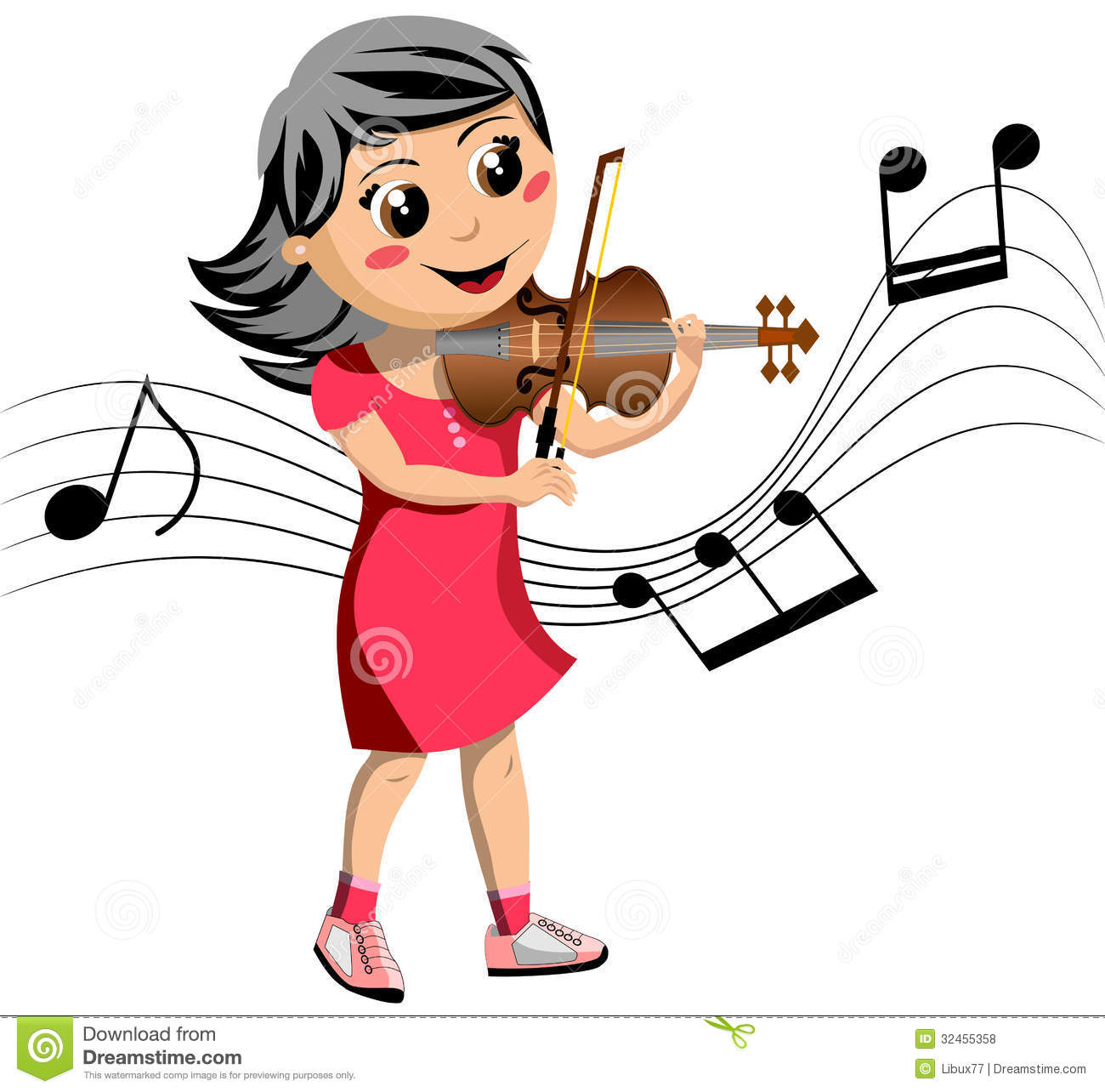 Violin player clipart.