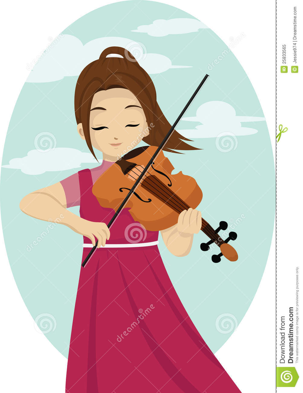Violin player clip art.