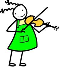 Violin player clip art.