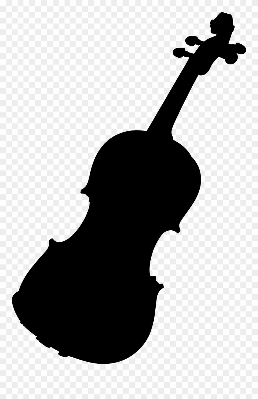 Violin, Black Silhouette Clipart (#2979436).