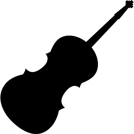 Violin silhouette Icons.