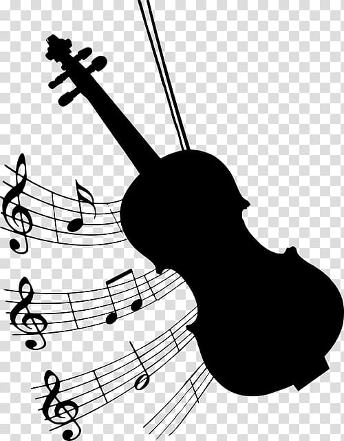 Violin Music Silhouette, violin transparent background PNG clipart.