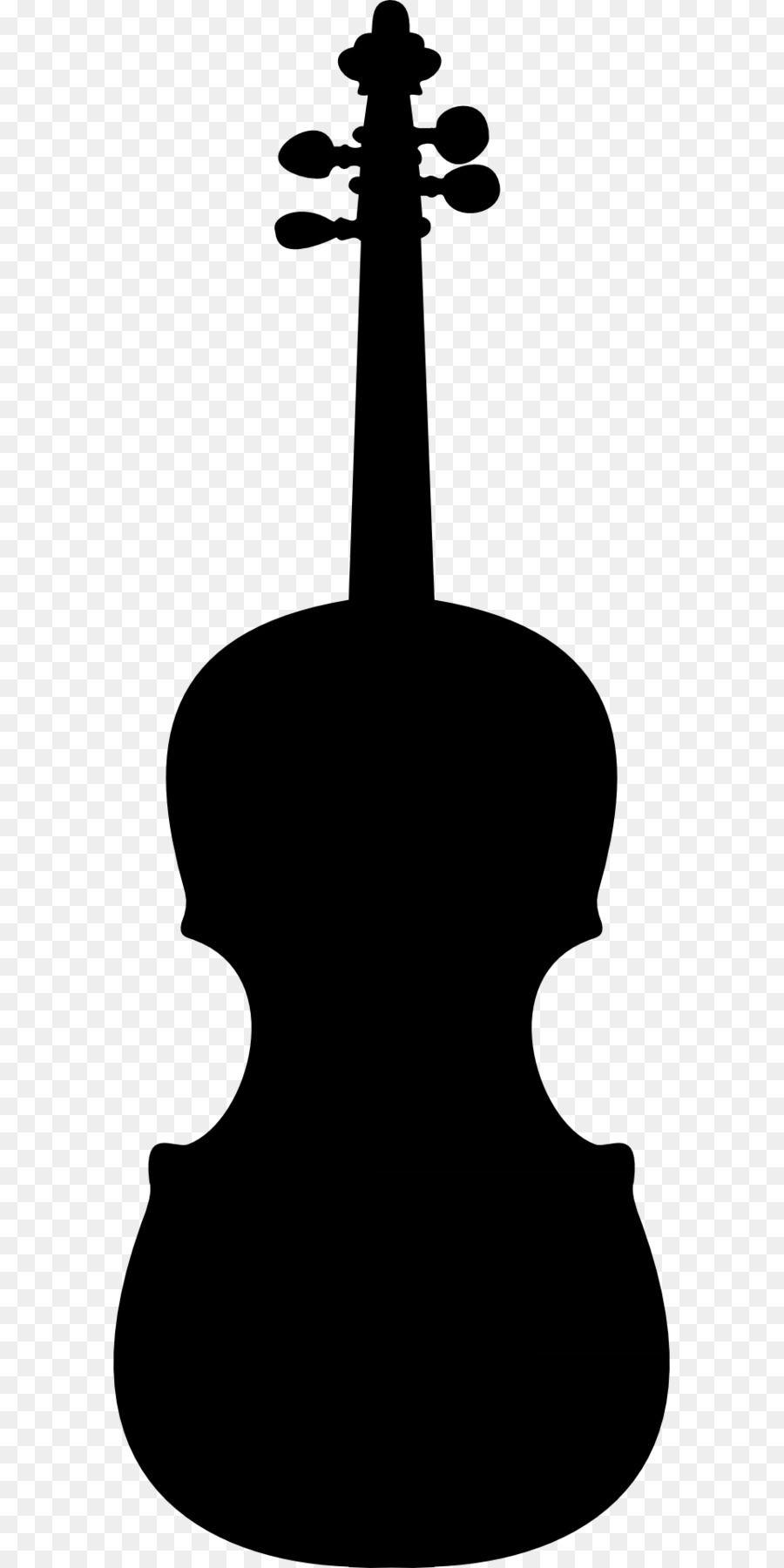 Violin Silhouette Clip art.