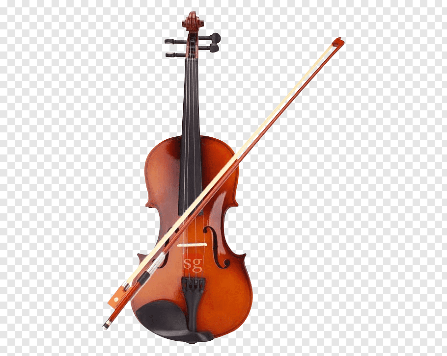 Brown violin with bow illustration, Violin Amazon.com Bow.
