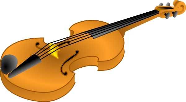 Brown Violin clip art Free vector in Open office drawing svg.