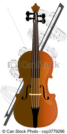 Clip Art Vector of cello, violoncello.