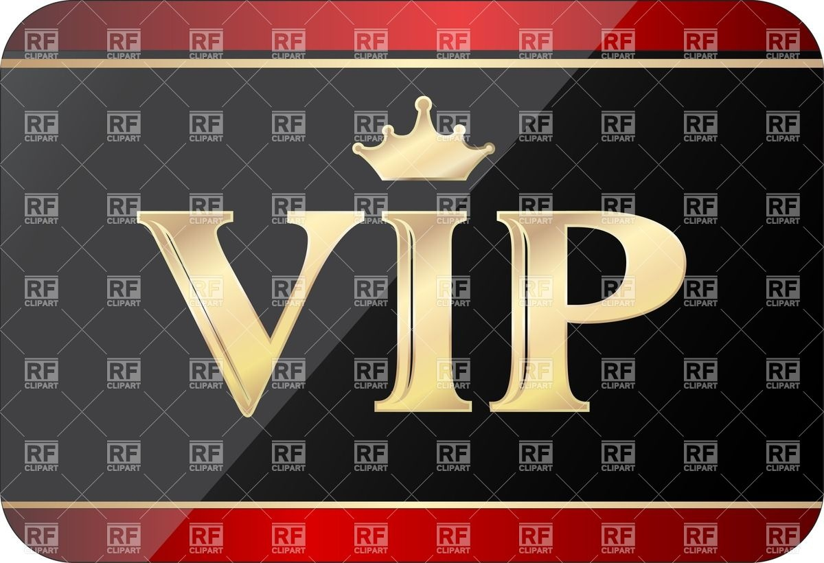 Golden VIP gift card Stock Vector Image.