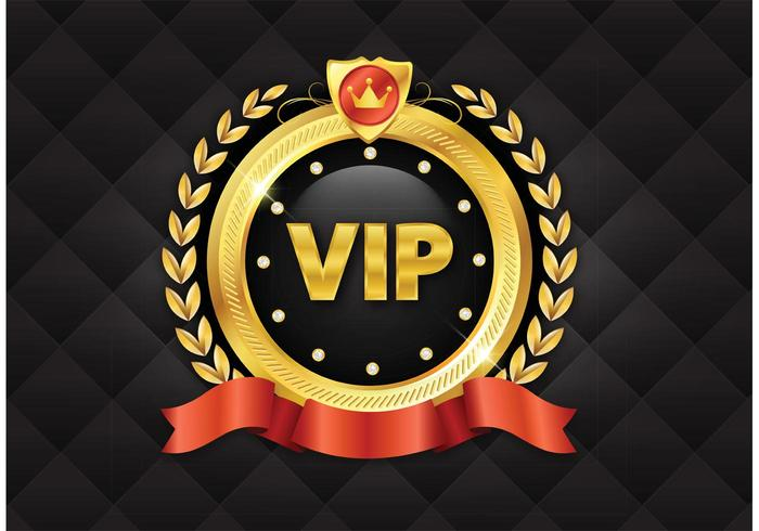 Free Golden VIP Vector Icon.