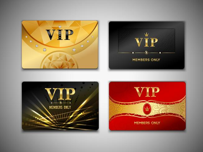 Small vip cards design set.