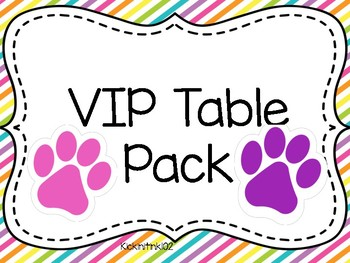 Vip Table Worksheets & Teaching Resources.