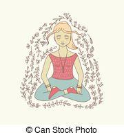 Vipassana Vector Clip Art Illustrations. 5 Vipassana clipart EPS.