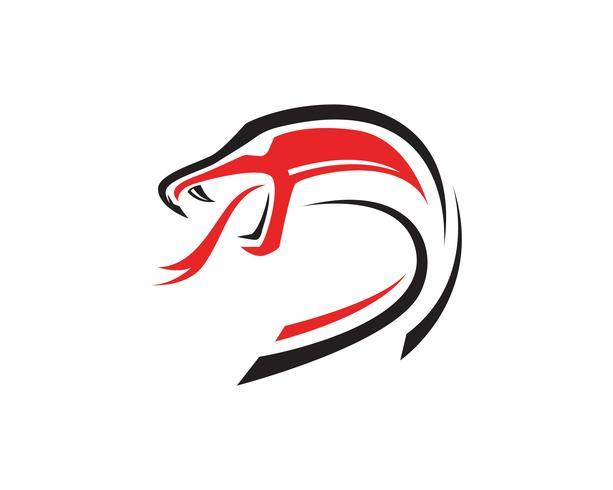 viper snake logo design element. danger snake icon. viper.
