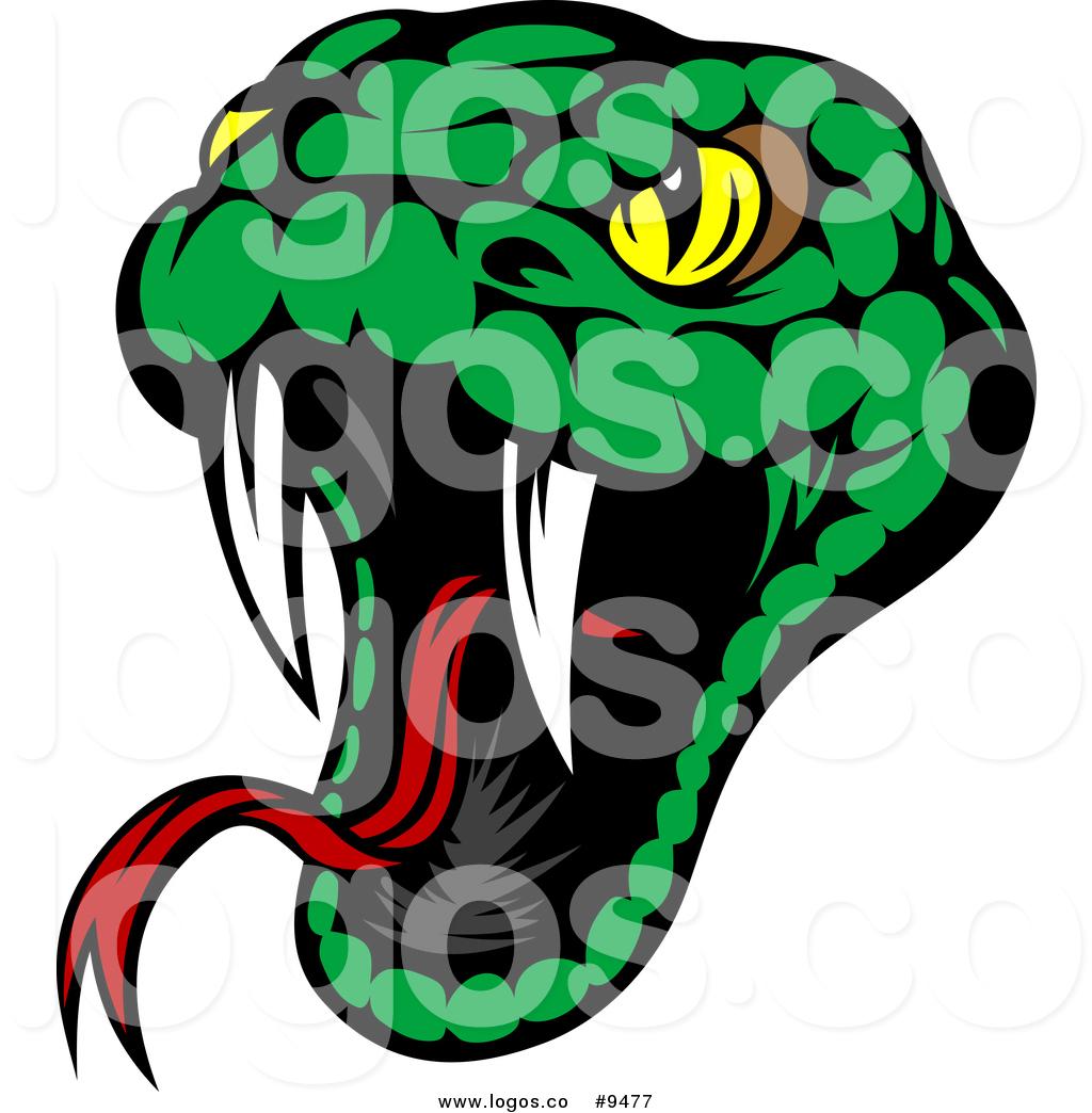 Viper Snake Head Clipart.