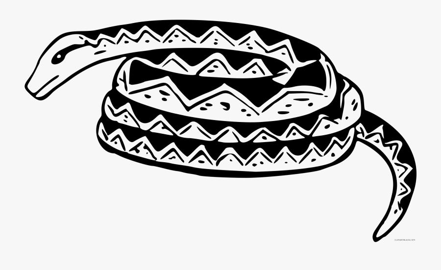 Black And White Snake Clipart.