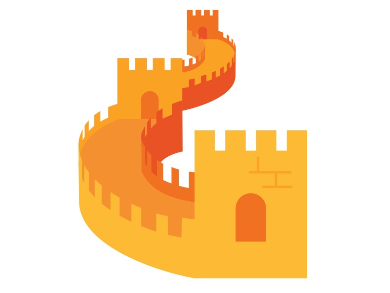 Vipkid Great Wall of China by Rick Byrne on Dribbble.