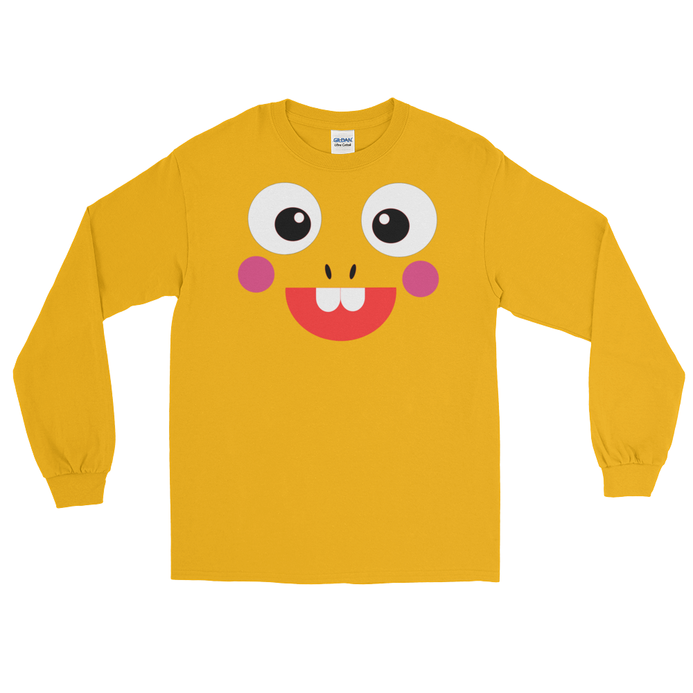 Long Sleeved VIPKID Dino Face Shirt.