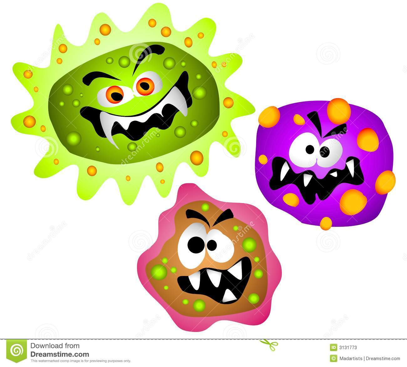 Viral Infection Clip Art.