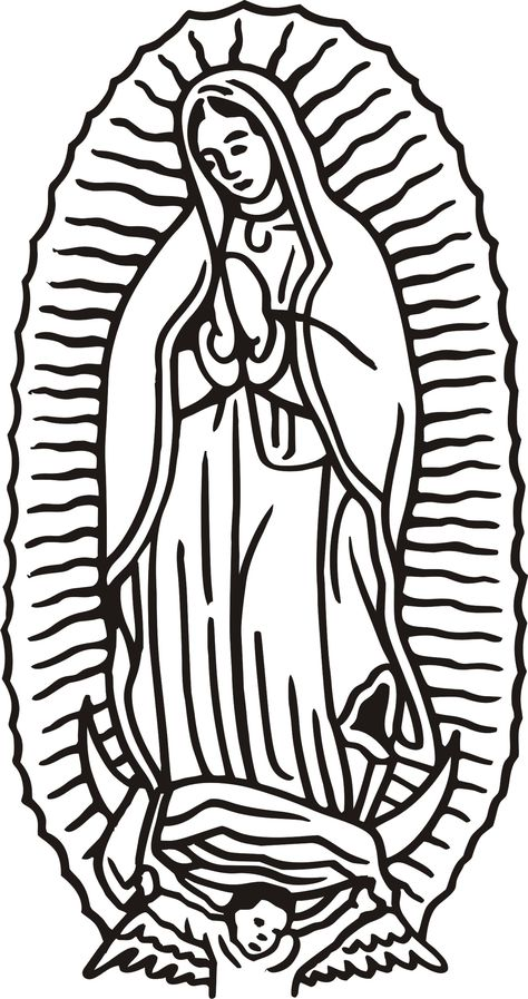 42 Awesome free our lady of guadalupe clip art.