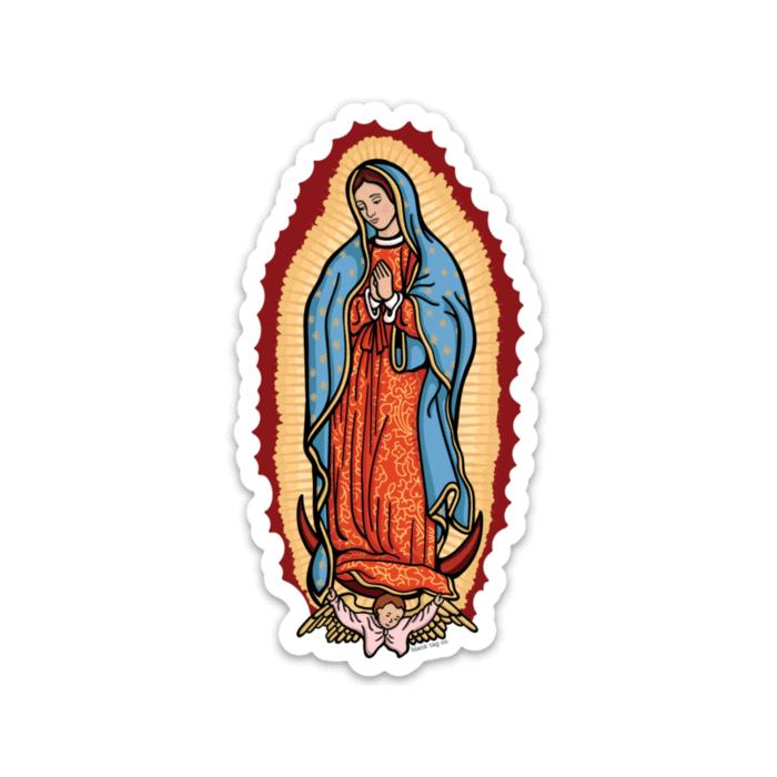 The Virgen de Guadalupe Sticker.