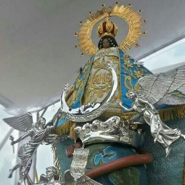 La virgen de Juquila en su nueva imagen presentada al mundo.