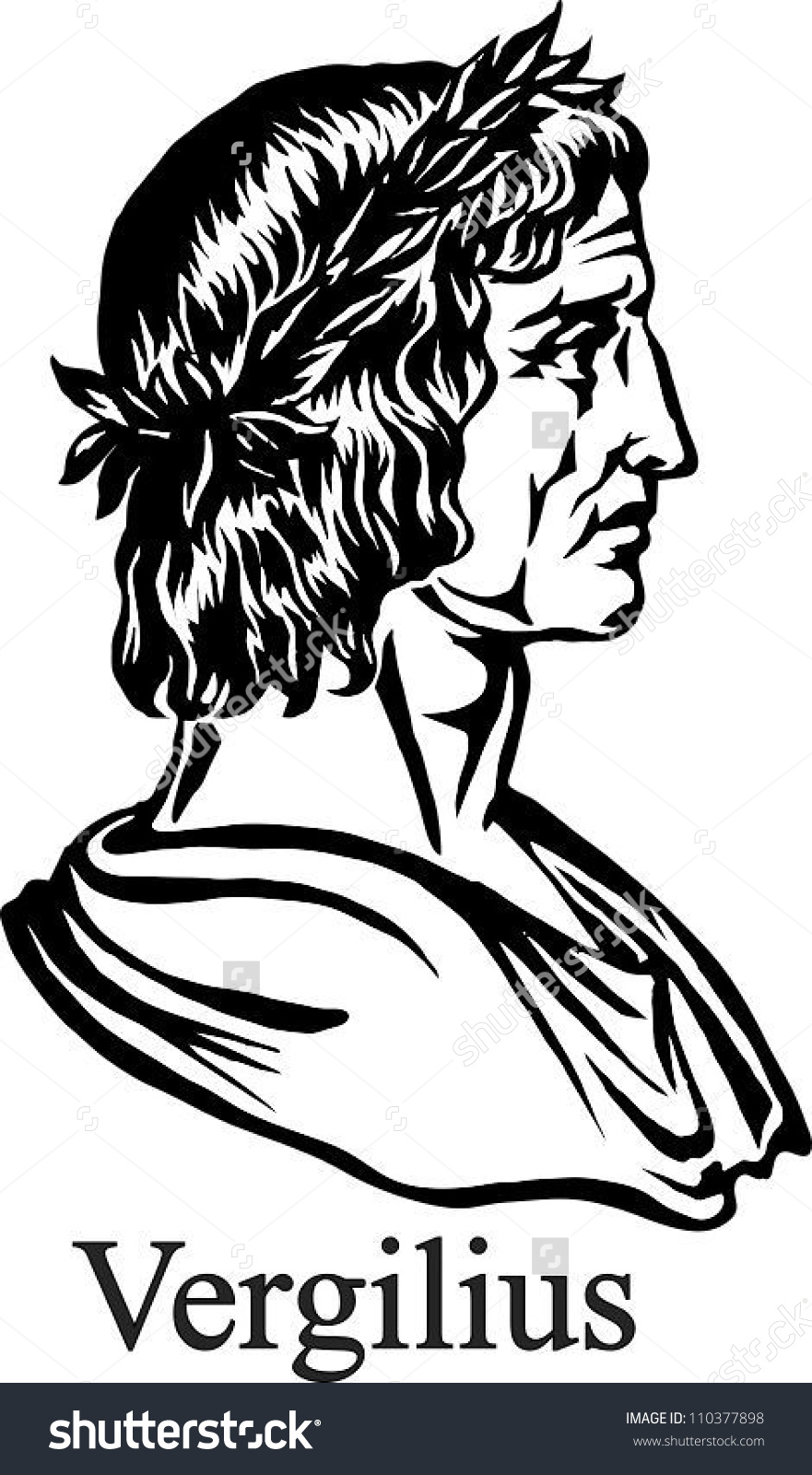 Ancient Roman Poet Virgil Stock Vector 110377898.