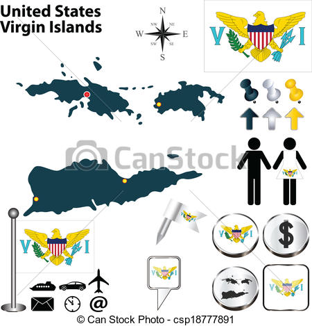 United states virgin islands clipart #19
