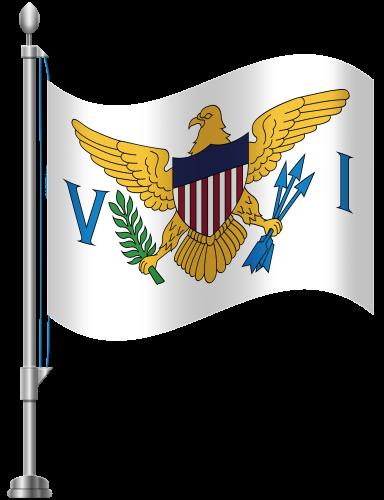 Virgin Islands Flag PNG Clip Art.