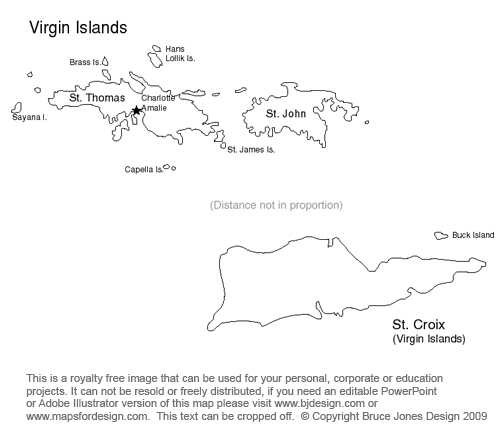 United States Virgin Islands Clipart Clipground - Virgin islands map us