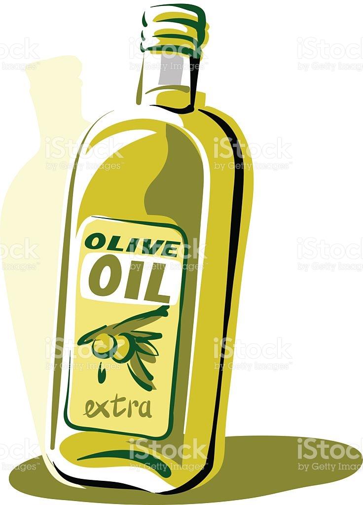 Printbottle Of Olive Oil stock vector art 537044959.