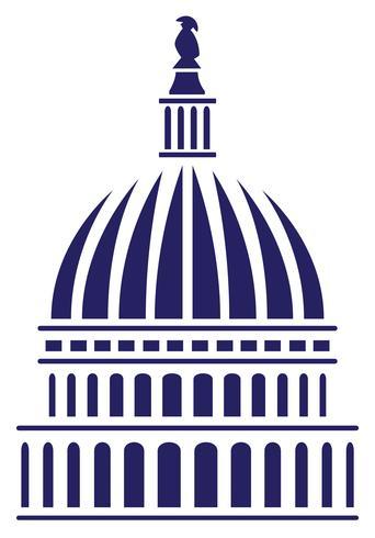 U.S. Capitol Dome Vector Illustration.