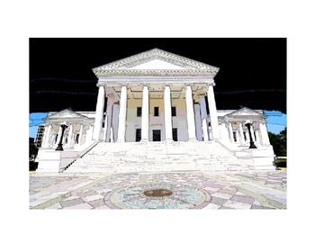 Virginia State Capitol Building Clip Art.