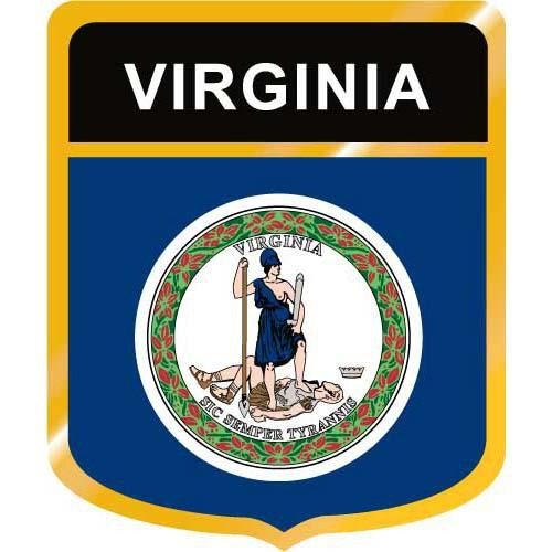 Virginia Flag Crest Clip Art.