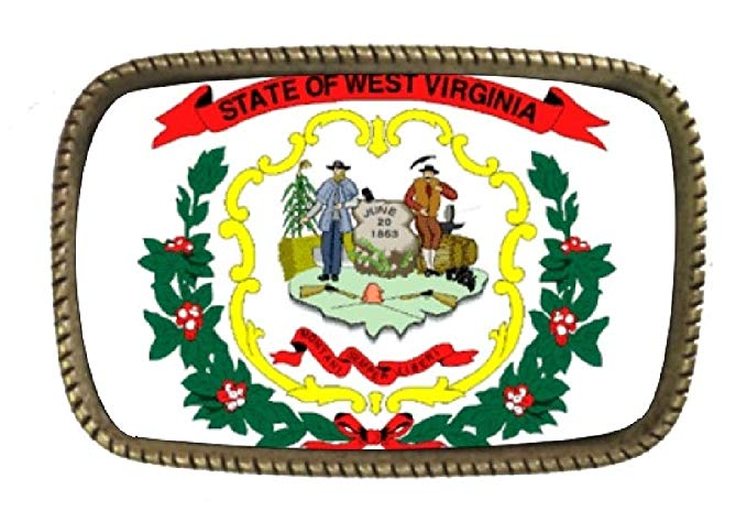 Amazon.com: State Flag Of West Virginia BRASS BELT Buckle.