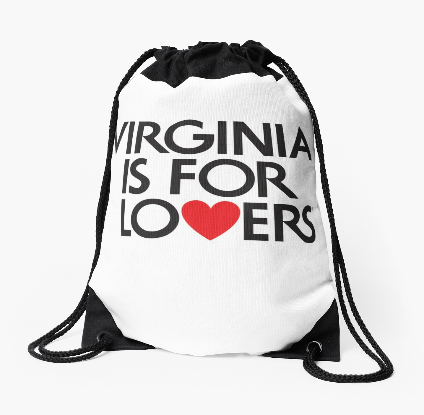 \'Official Virginia Is For Lovers Logo\' Drawstring Bag by Grampus.