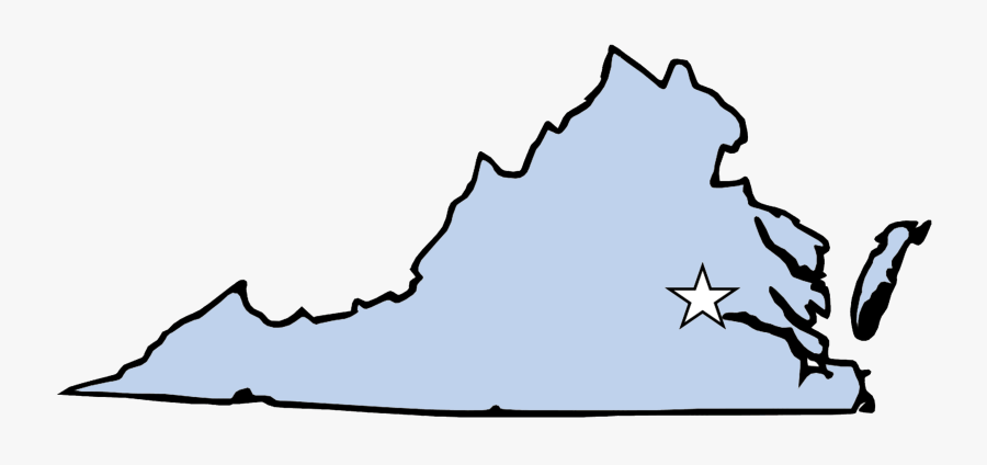 Virginia Map For Coloring , Free Transparent Clipart.