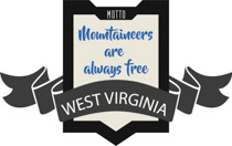 Fifty States: West Virginia Clipart.