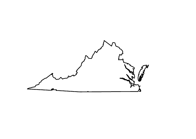 Virginia clipart silhouette pencil and in color png.