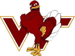 Virginia Tech Football Clipart.
