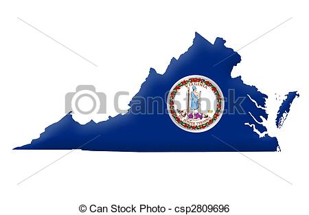 Stock Illustration of Commonwealth of Virginia csp2809696.