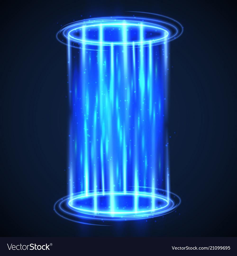 Futuristic virtual hologram teleport hud digital.