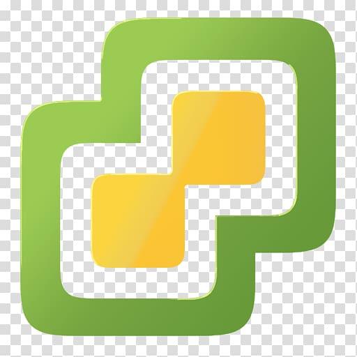 Green and yellow logo, VMware vSphere VMware ESXi Virtual.
