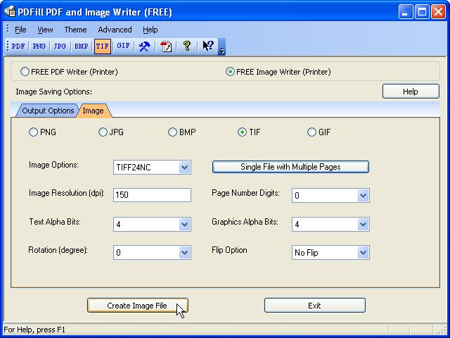 FREE Image Writer, Printer, Creator or Converter for FREE Image.
