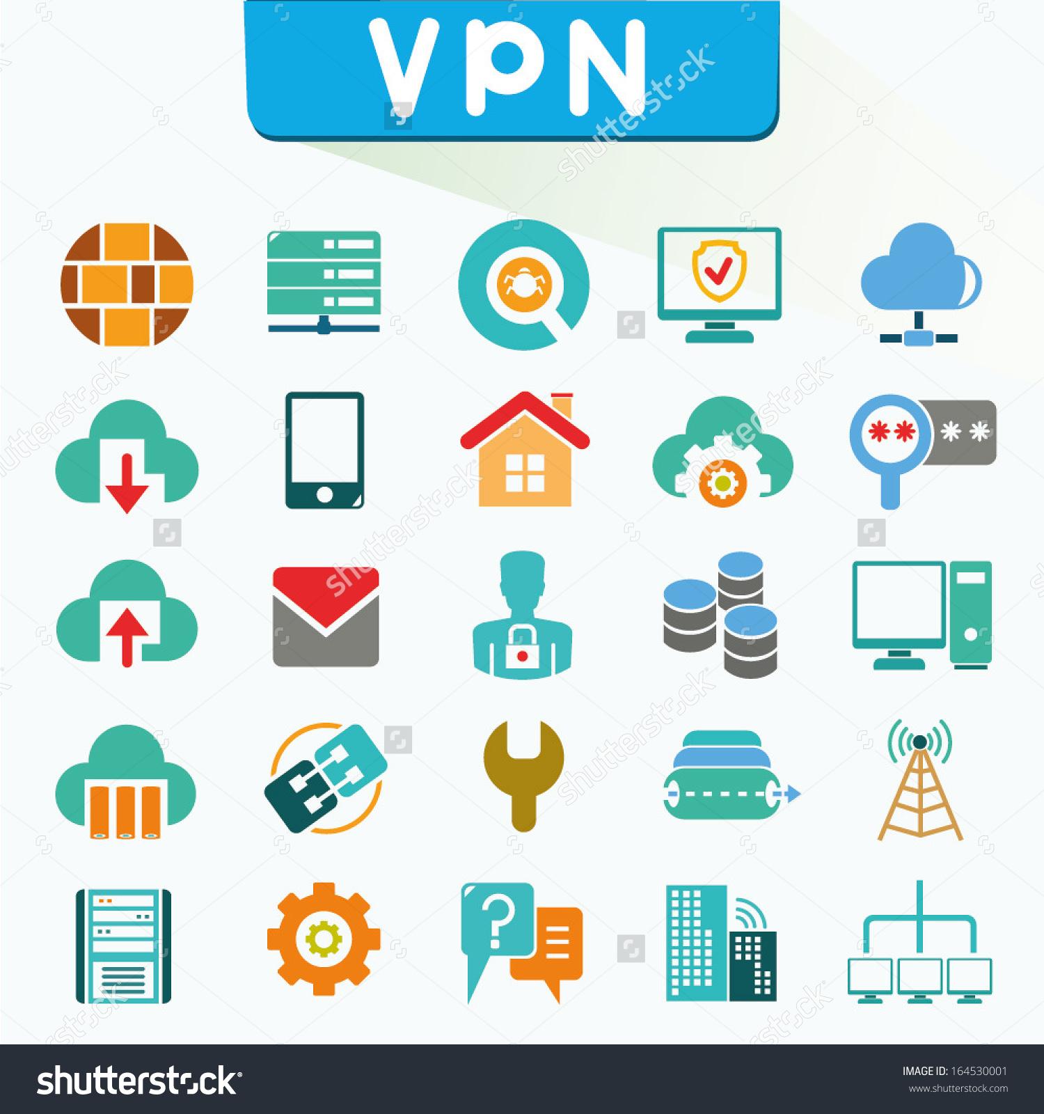 Virtual Private Network Clip Art.