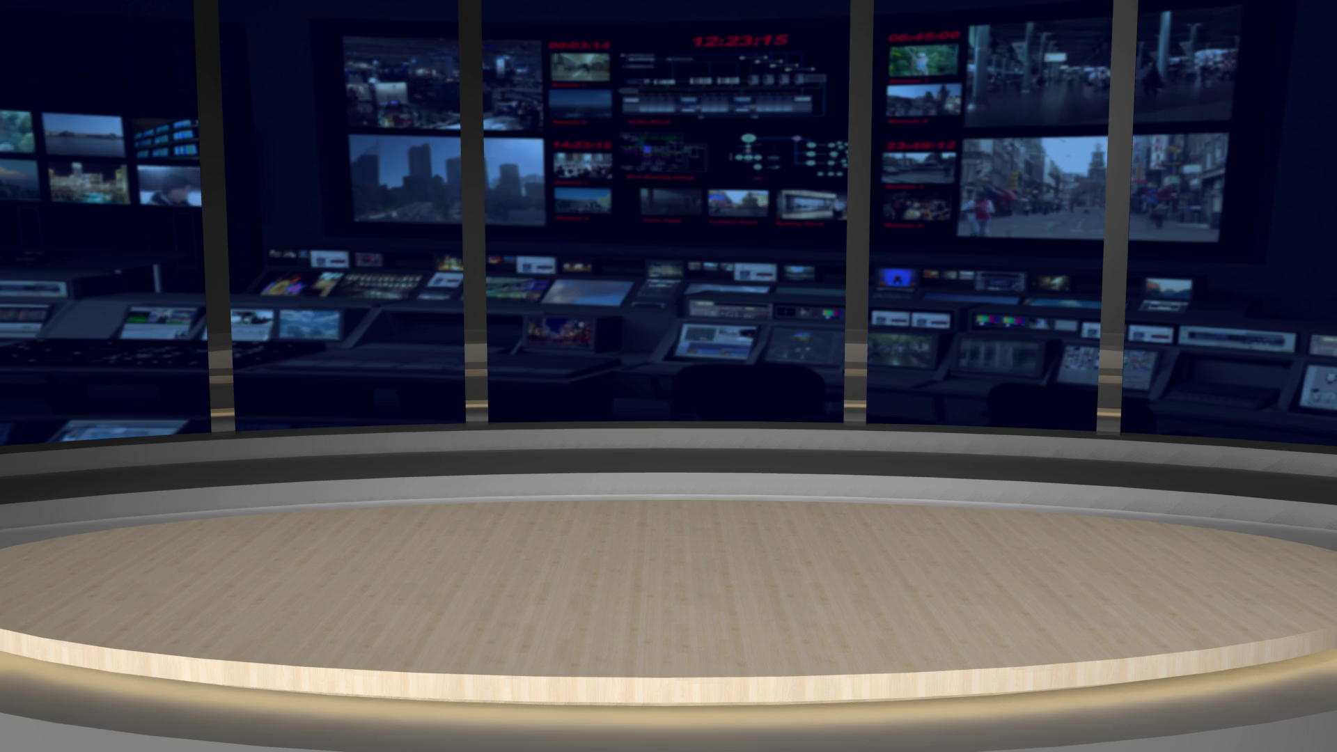 Animated Virtual Set Studio AnimSet 002 Wide Shot News Set with Animated  Screens in Background Motion Background.